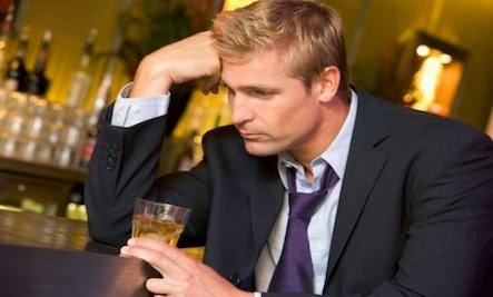 Recovering Addicts Get by With Help from Friends - guy man drink in a bar sad