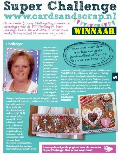 Winnaar Superchallenge Card&Scrap