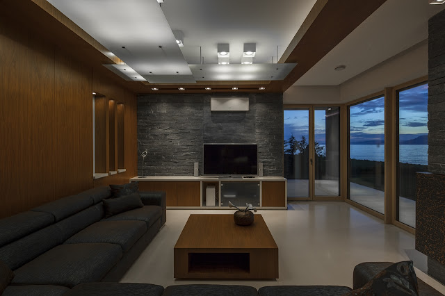 Living room at dusk