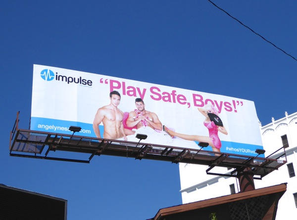 Play safe boys Impulse billboard