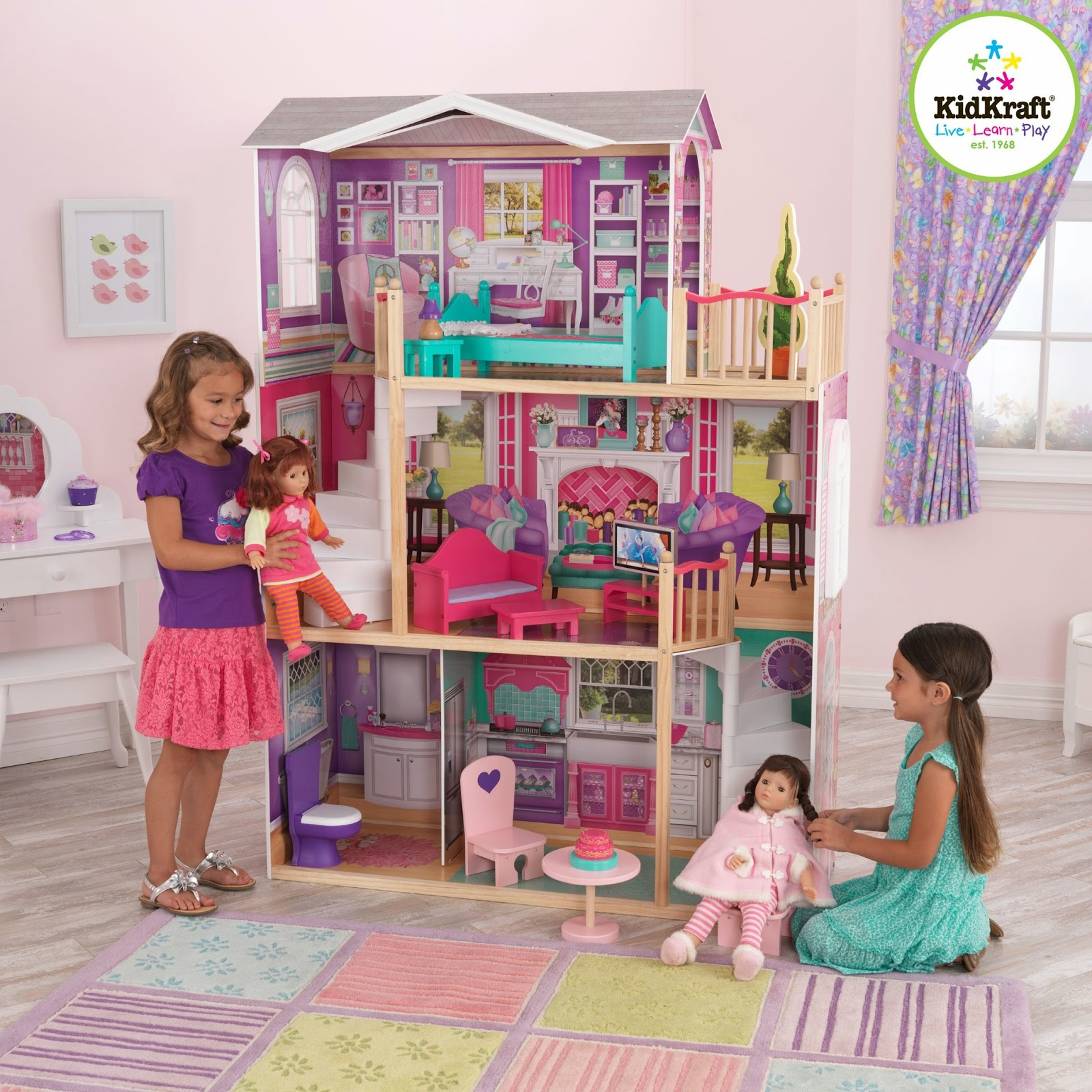a kid place furniture toys and essentials for kids of all ages kidkraft wooden dollhouses. Black Bedroom Furniture Sets. Home Design Ideas