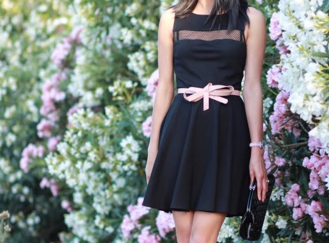 little black dress skater style mesh classic