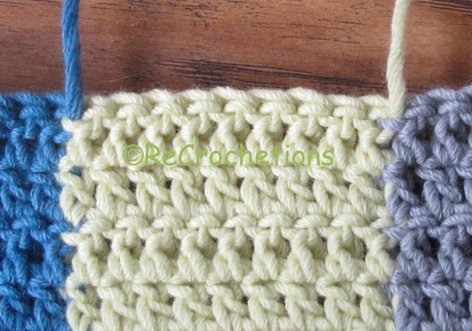 Intarsia Crochet Pattern Maker : ReCrochetions: Reversible Intarsia: Half Double Crochet ...