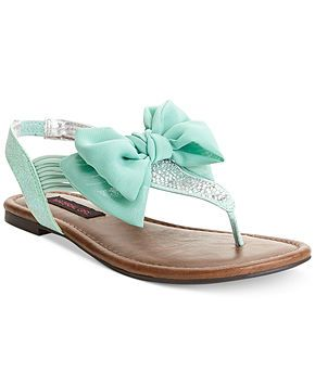 Girl Skylar Flat Sandals in MINT color