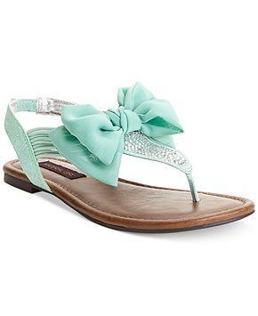 Girl Skylar Flat Sandals in MINT color