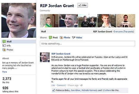 ... our Facebook generation. They're creating their own memorial sites