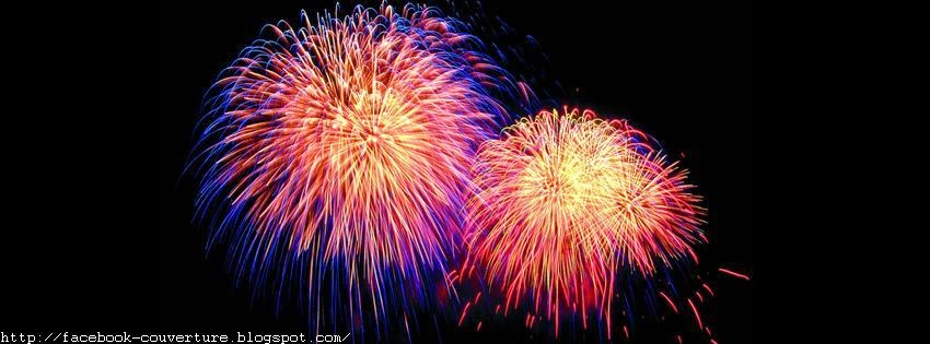 Couverture facebook d'un feu d'artifice