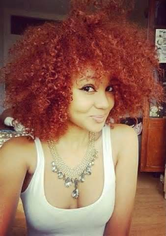 Natural Hair Dyed Red Color 2016   Health and Beauty
