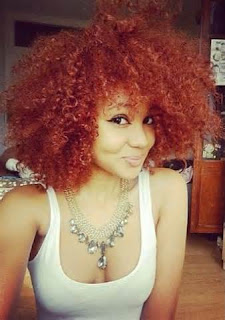Natural Hair Dyed Red Color 2016