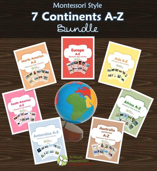 A-Z Geography Packs for all 7 Continents