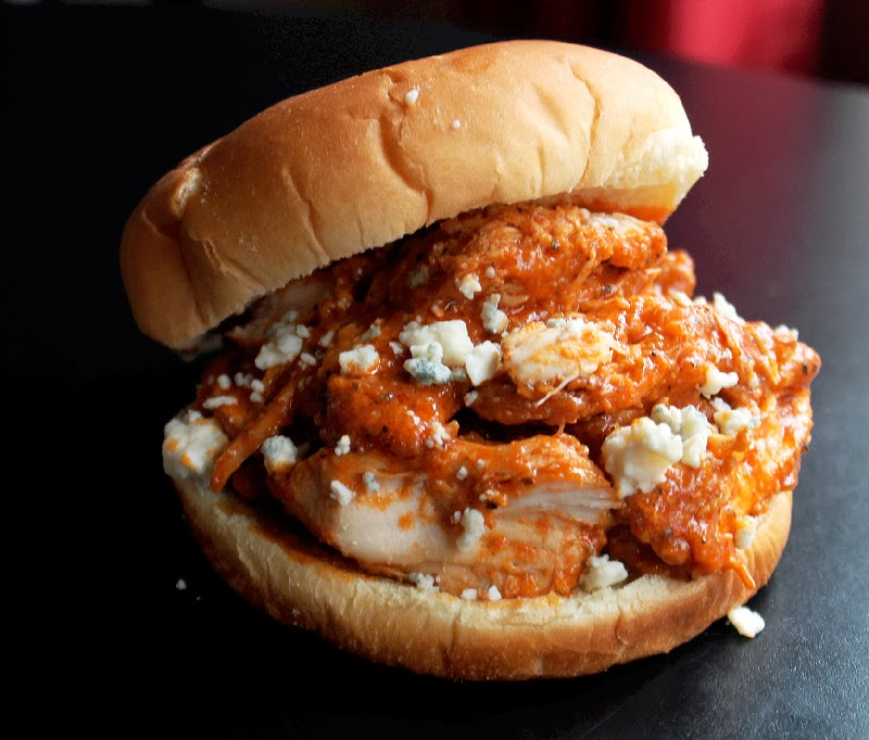 Creole Contessa: Easy Slow Cooker Pulled Buffalo Chicken Sandwiches