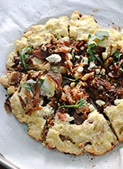 Caramelized Onion, Paleo Bacon and Goat Cheese Savory Galette