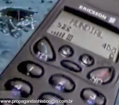 Propaganda do Celular Ericsson em 1999 com Emerson Fittipaldi como garoto propaganda.