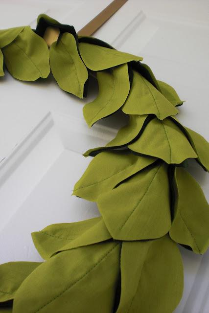leafy spring wreath