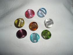 Piezas en cristal de colores