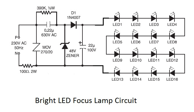 How To Make Led Bright Focus Lamp