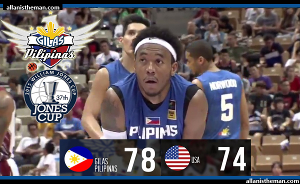 Gilas Pilipinas defeats USA, moves 1 win away from Jones Cup silver