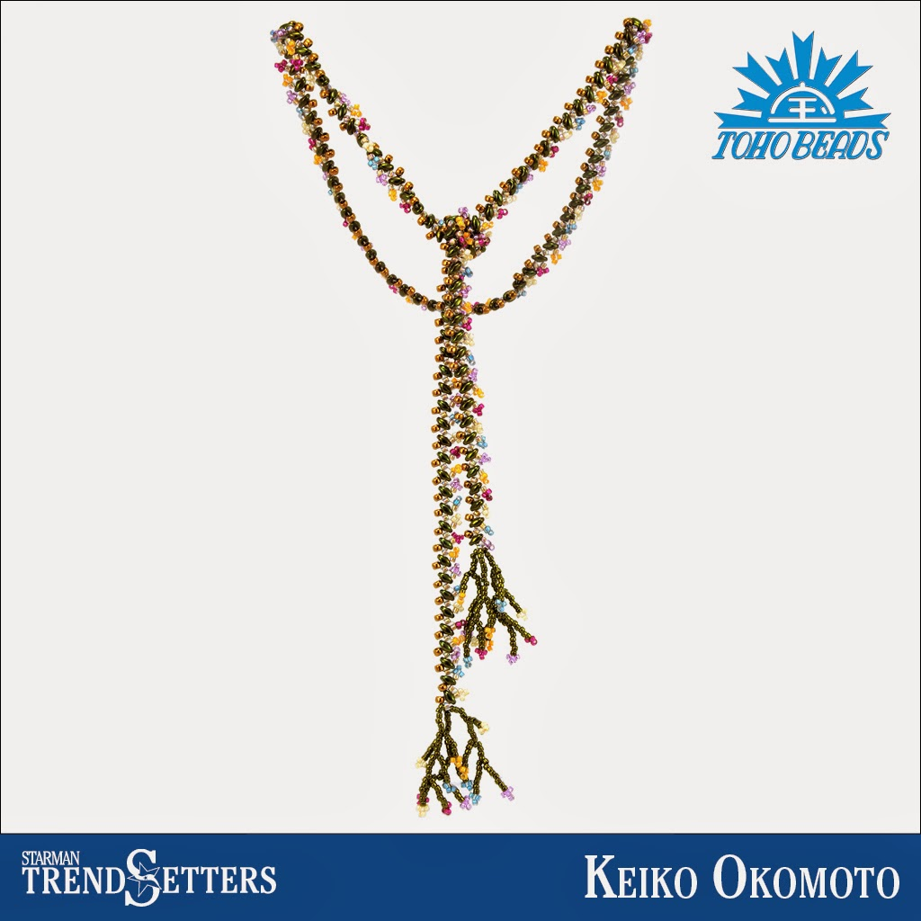 SuperDuo and TOHO beaded necklace by Starman TrendSetter Keiko Okomoto