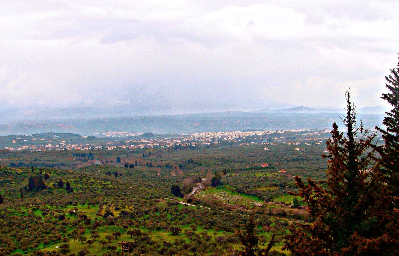 Looking across to Sparta from Mistra
