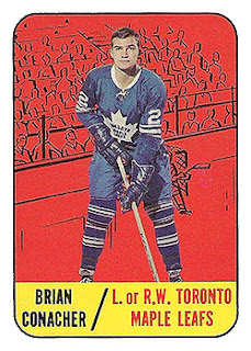 brian conacher toronto maple leafs rookie hockey card