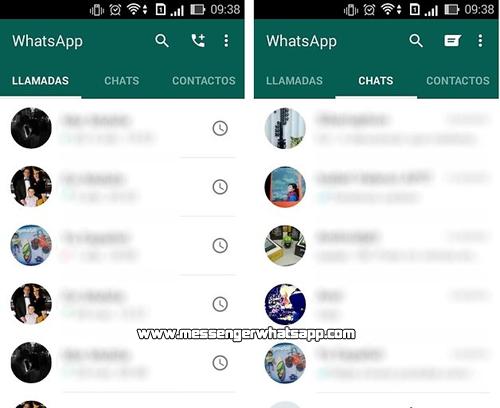 Actualizacion y nuevo diseño de WhatsApp para Android