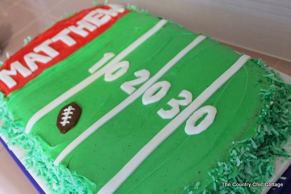 Cake Decorations Football Nets : Football Cake - The Country Chic Cottage