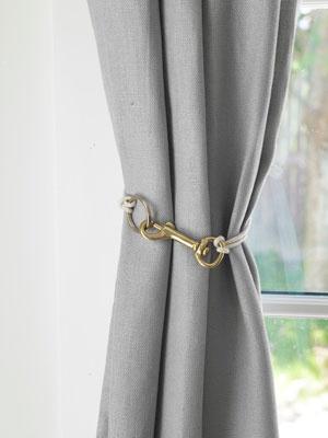 Creative Curtain Tie Backs Ideas : Creative Curtain Tiebacks