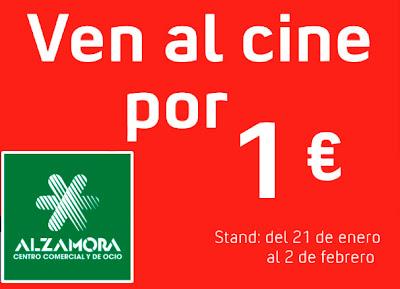 Promoción Ven al cine por 1 euro Centro Comercial Alzamora Alcoy