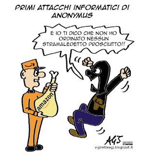 ISIS, Anonymus, hacker, satira vignetta
