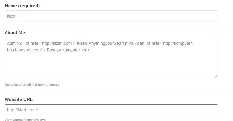 Wordpress forum profile