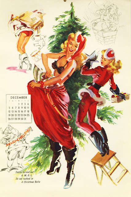 Christmas Pin Up Girls by Bill Randall
