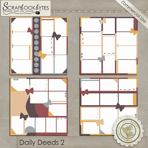 Daily Deeds 2 - Project 365 12x12 Templates CU