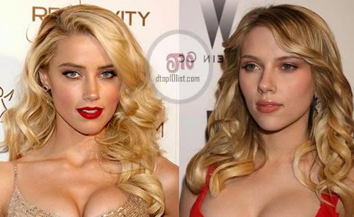 Amber Heard and Scarlett Johansson