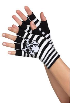 mitaine gant tête de mort