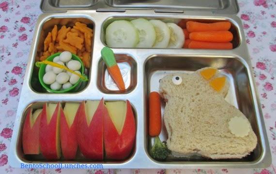 Easter bunny school lunch