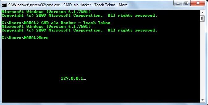 cmd ala hacker