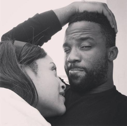 Iyanya  photo with girlfriend, Freda Francis