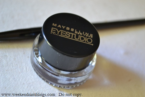 maybelline eye studio lasting drama gel liners eggplant aubergine swatches reviews eotds
