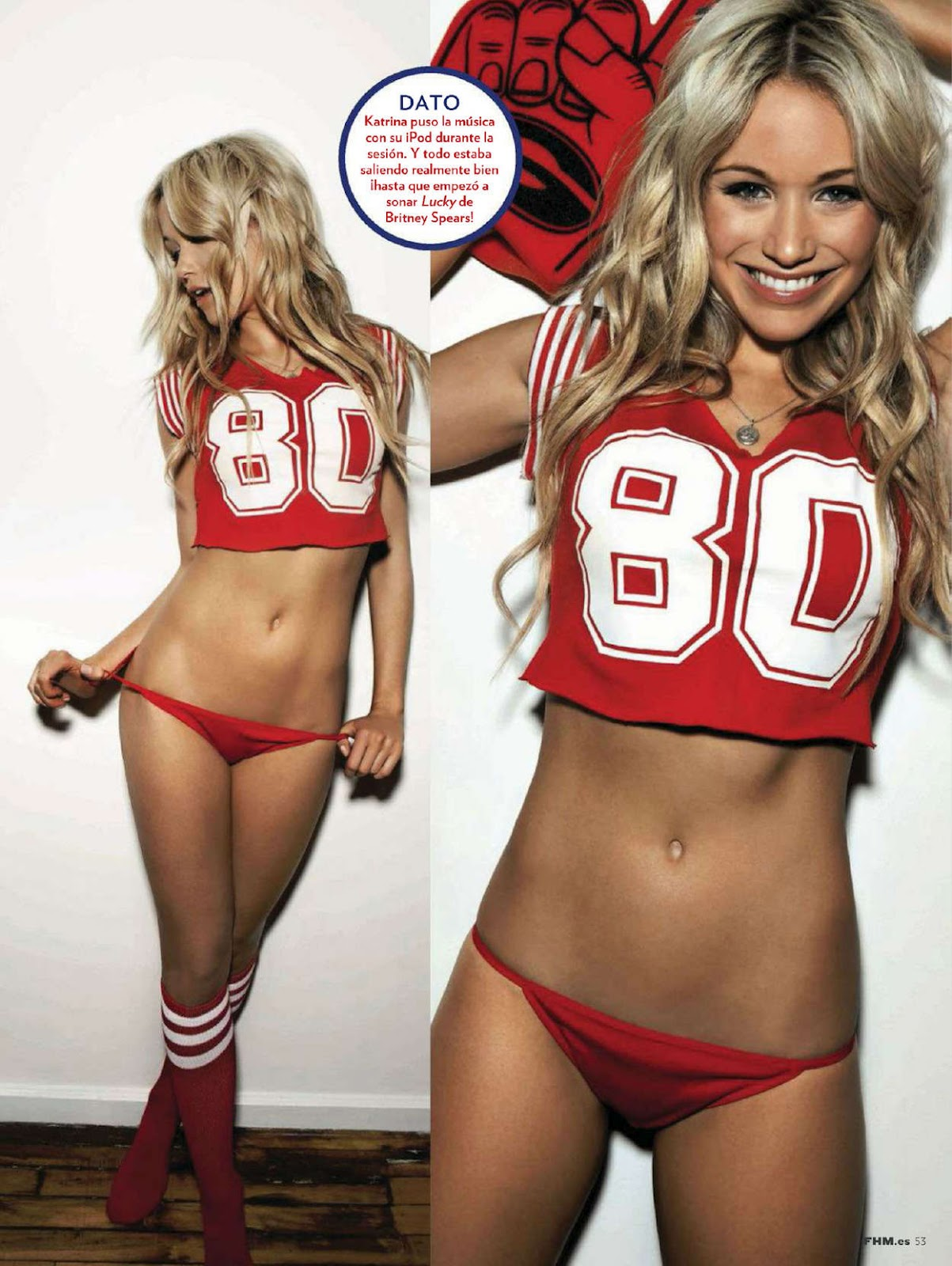 Katrina Bowden on the cover of FHM Magazine Spain, June 2012 issue