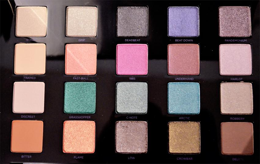 palette maquillage fard à paupières swatches