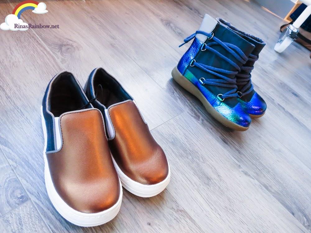 bronze sneakers