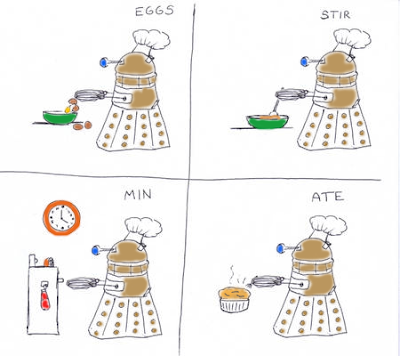 Eggs Stir Min Ate - Cooking Dalek