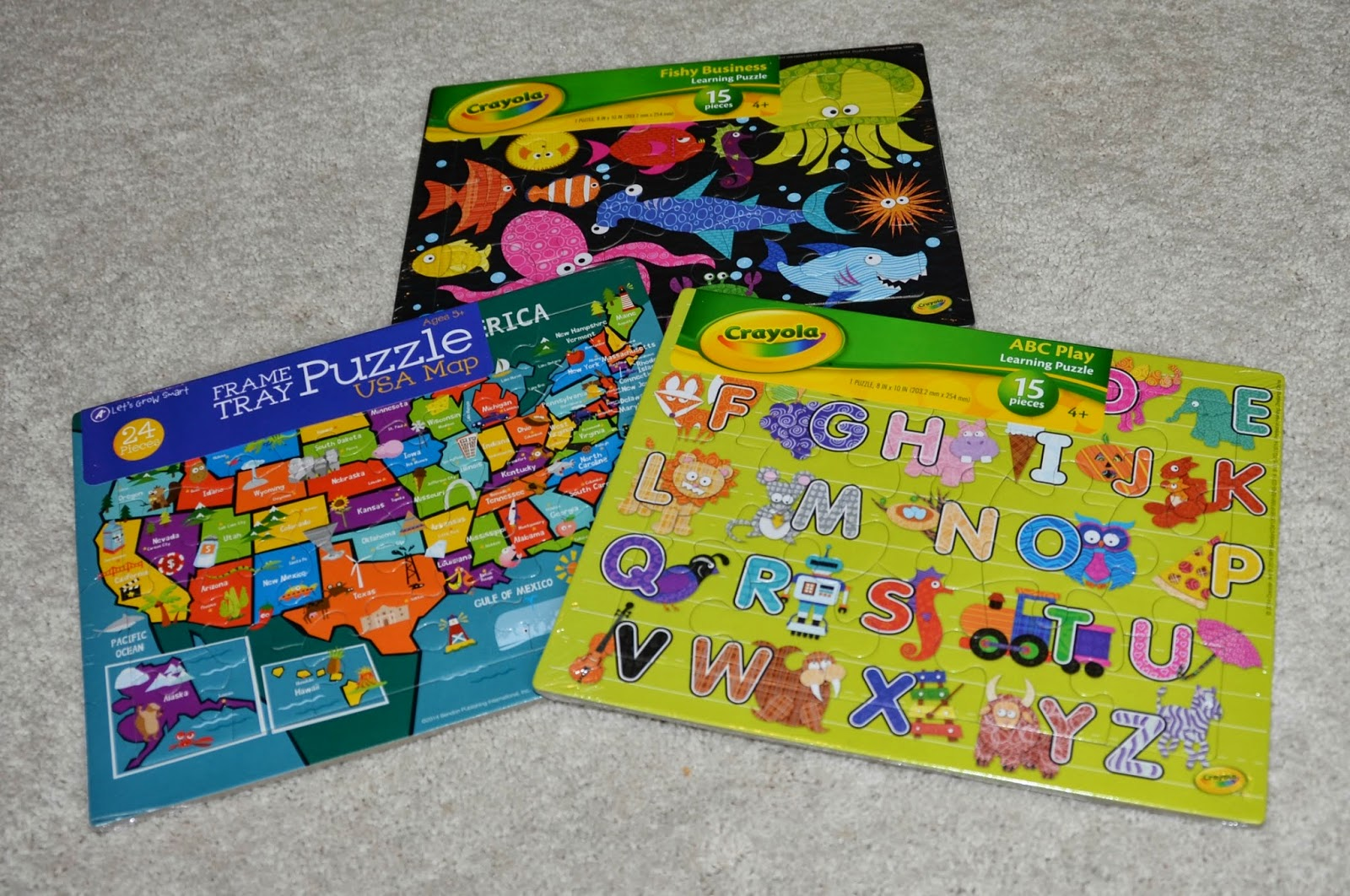 Enjoy Learning Us Map Puzzle%0A I also picked up a few more of the one dollar puzzles  They are small  but  as I mentioned previously  they will fit in tubs  The pieces are nice and  sturdy