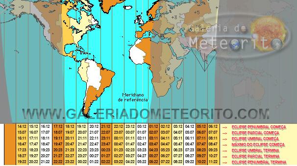 horário do Eclipse Lunar no Brasil e no mundo - dia 27 de setembro de 2015