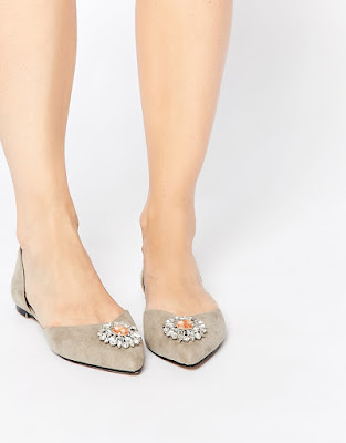 Asos metallic flat d'orsay with embellishments