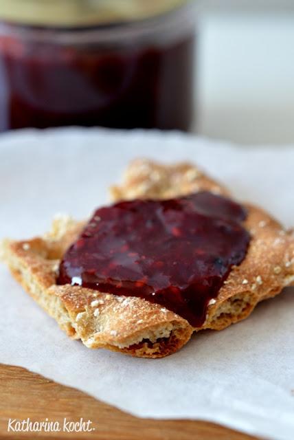 Pfirsich Brombeere Rosmarin Konfitüre Marmelade zuckerfrei ohne Zucker ohne Gelierzucker
