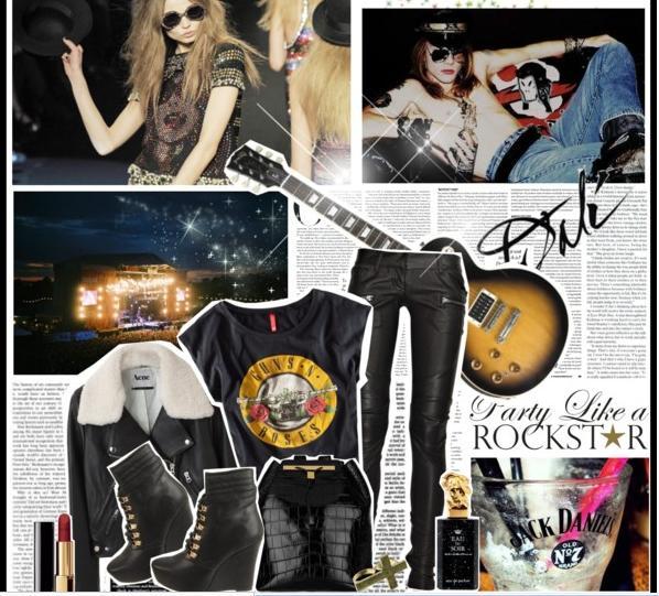Chica del rockero