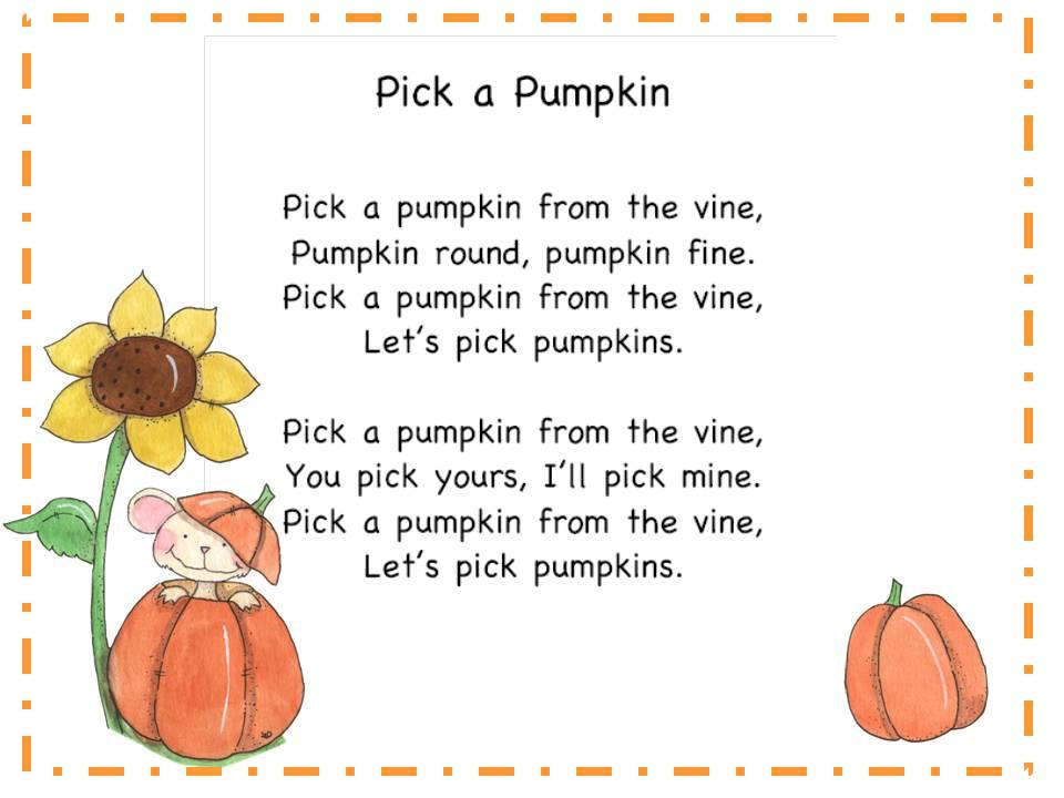 pumpkin rhymes preschool more pumpkin songs classroom freebies 206
