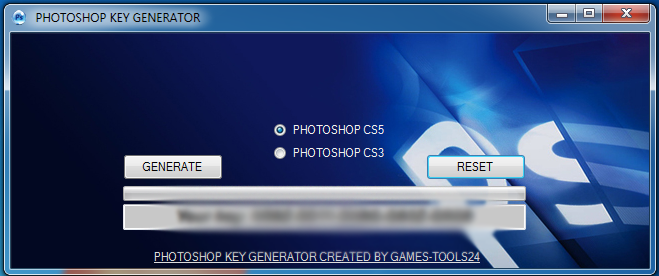 To use this you have to buy orginal cd with Photoshop or orginal product ke