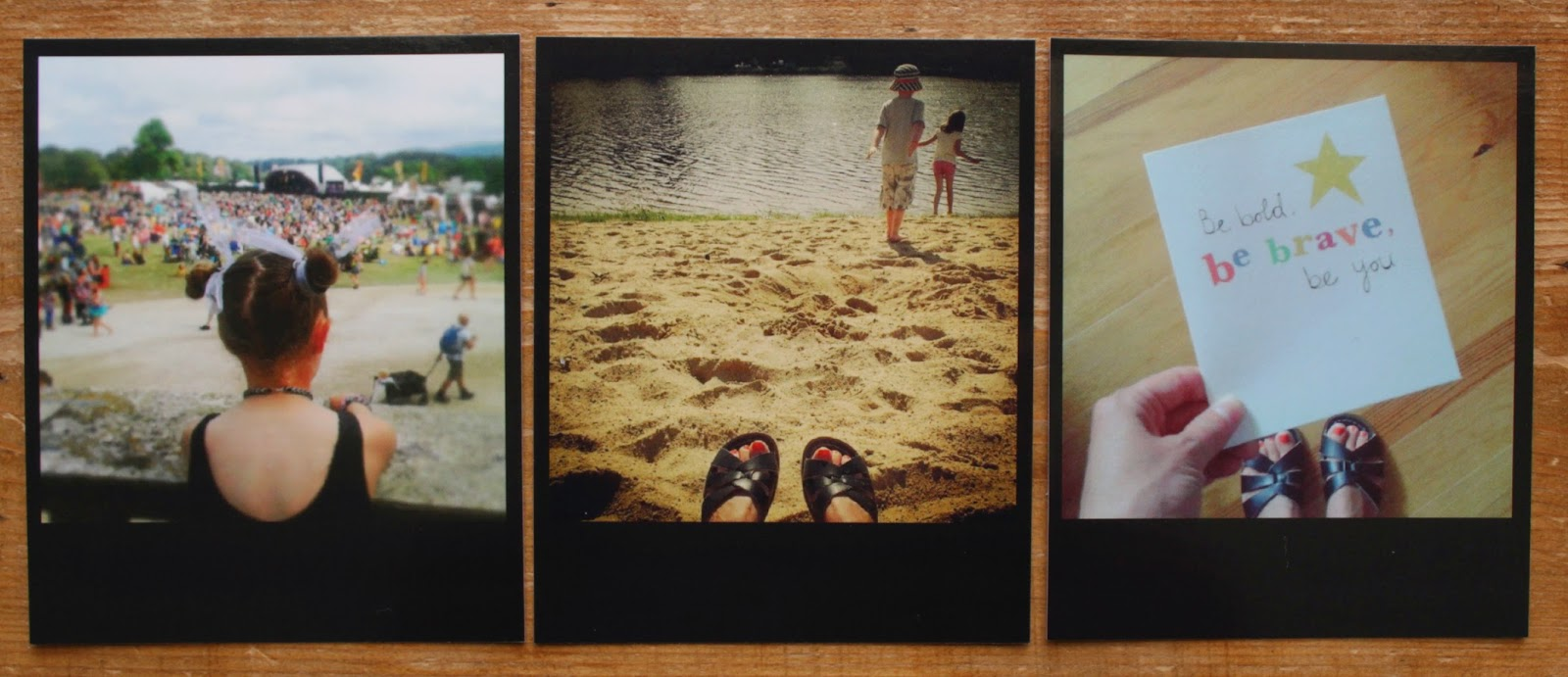 Black frame Polaroid style prints from Square-Snaps // 76sunflowers